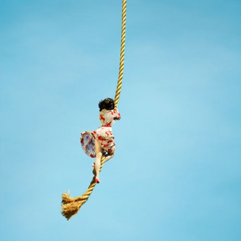 girl on a rope