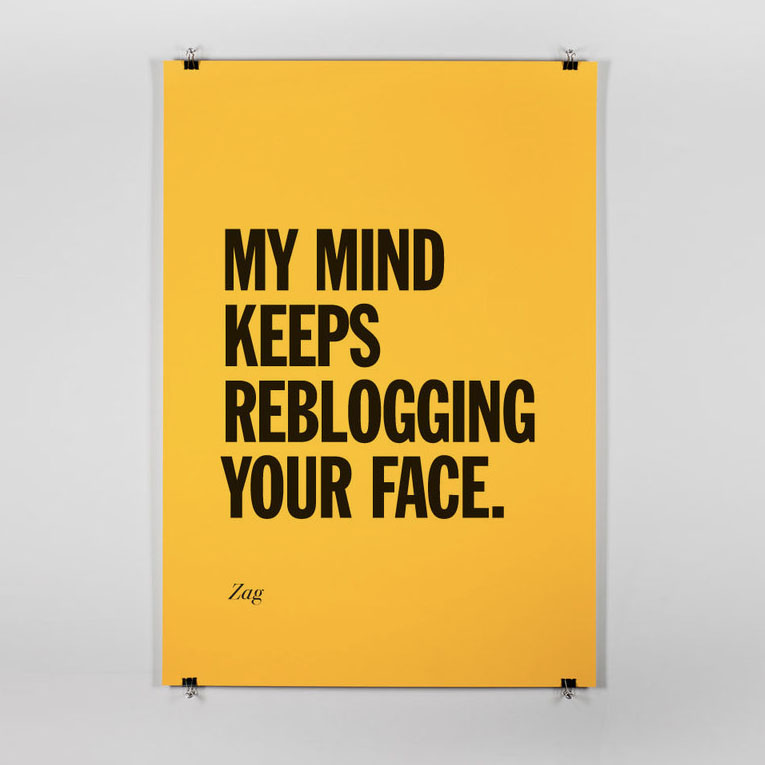 Reblogging your face