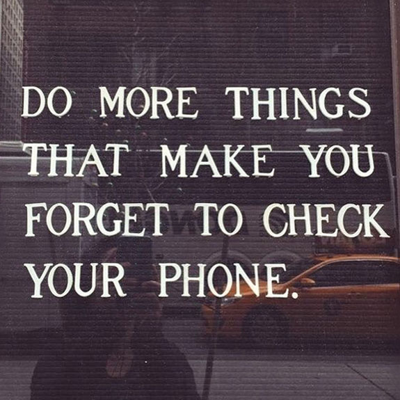 Forget your phone